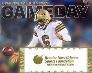 Saints Gameday program sales for GNOSF QB Club