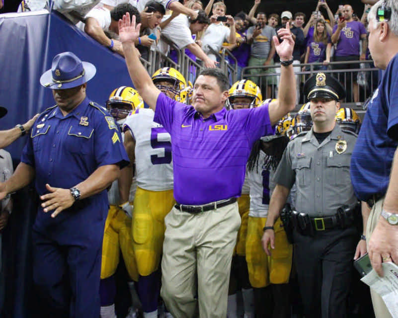 Ed Orgeron at LSU in New Orleans
