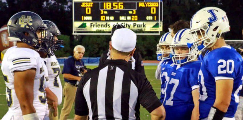 Jesuit vs. Holy Cross football