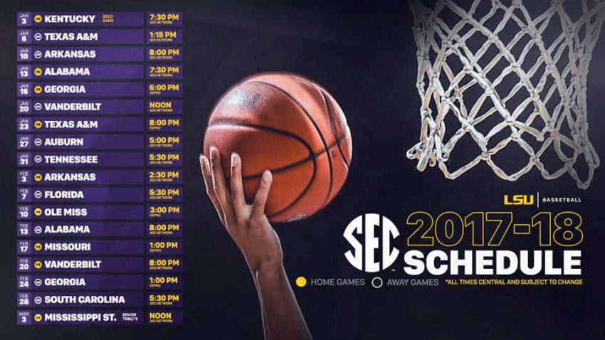 LSU's 2018 SEC MBB