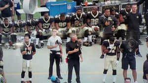 Saints anthem protest at Carolina