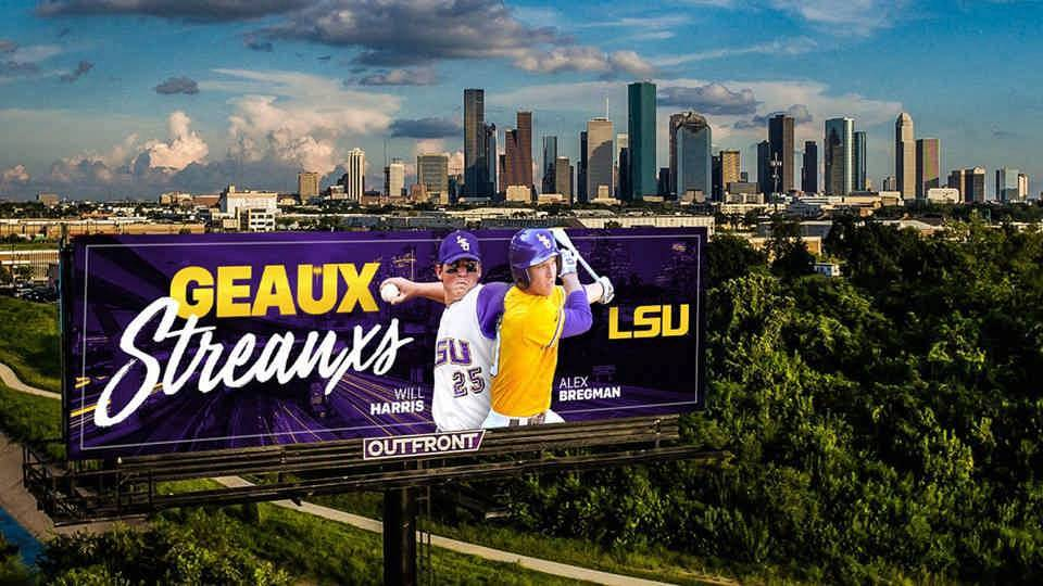 """Geaux Streauxs"" Billboards Now on Display in Houston"