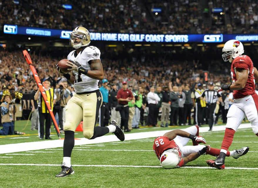 In his six seasons in New Orleans, Meachem caught 164 passes for 2,707 yards and 25 touchdowns. Overall, Meachem had 178 receptions for 2,914 yards and 27 yards in his NFL career.
