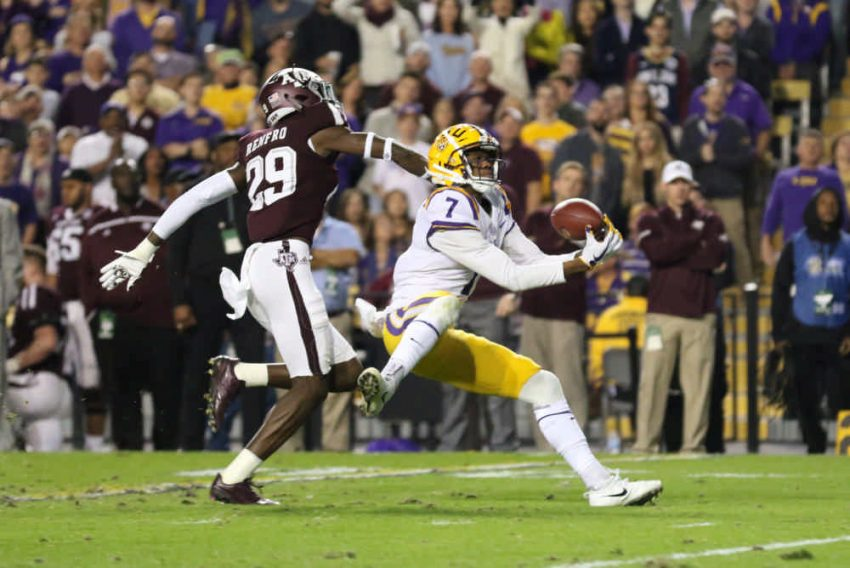 On Senior Night in Tiger Stadium, quarterback Danny Etling, wide receiver DJ Chark and running back Darrel Williams helped the LSU Football team amass 601 yards of total offense in a 45-21 victory over Texas A&M.