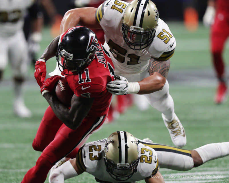 Saints at Falcons 2017