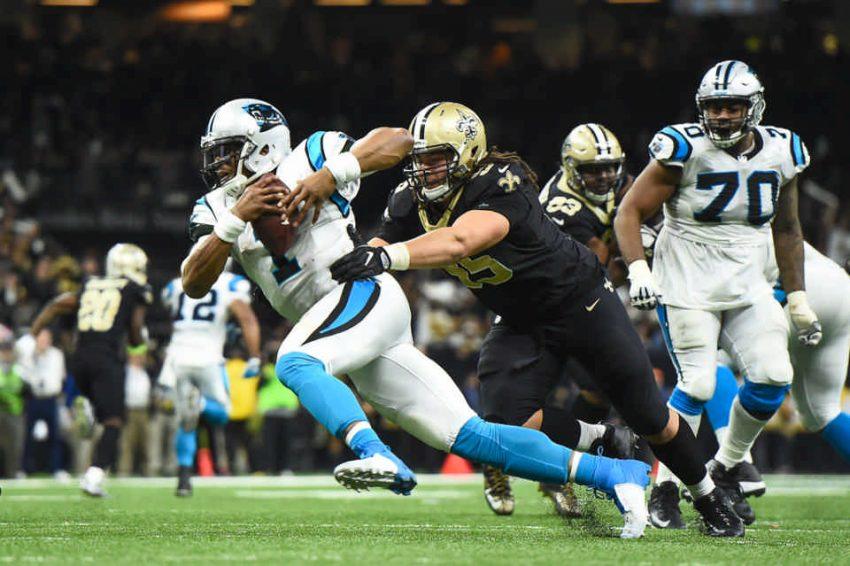 Panthers at Saints playoffs