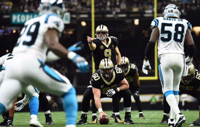 Drew Brees, Panthers at Saints playoffs
