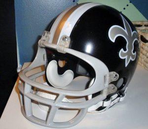 Saints black helmet