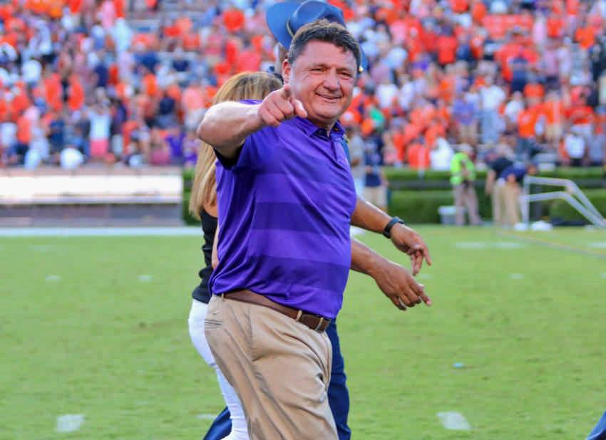 Doubting Orgeron, Ensminger, Aranda and Burrow ends now
