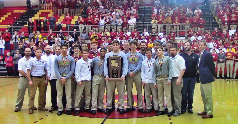 Brother Martin 2019 Division I wrestling champions