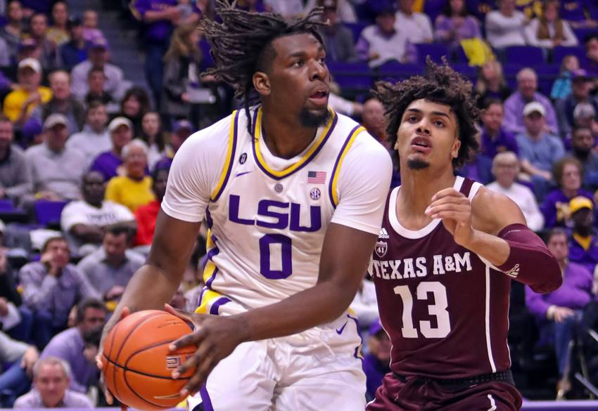LSU to face Yale as No. 3 seed early Thursday in NCAA Tournament