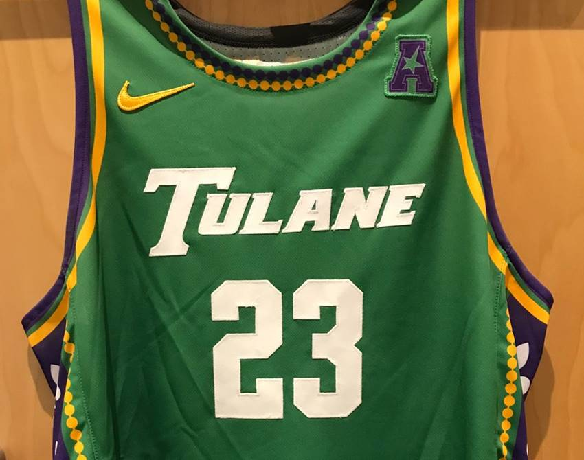 3c5cee130ee Tulane men s basketball unveils Mardi Gras themed unforms – Crescent City  Sports
