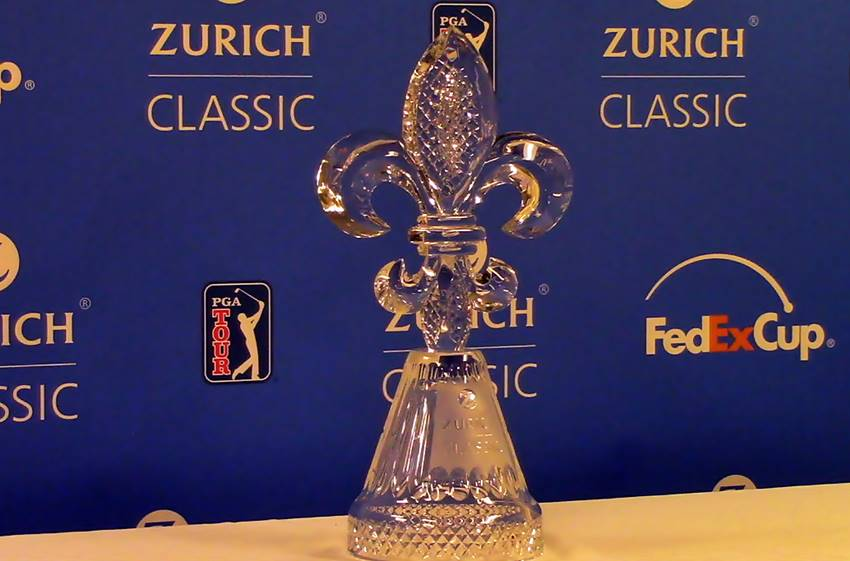 Video: Zurich Classic unveils new trophy, presents defending champs Horschel and Piercy