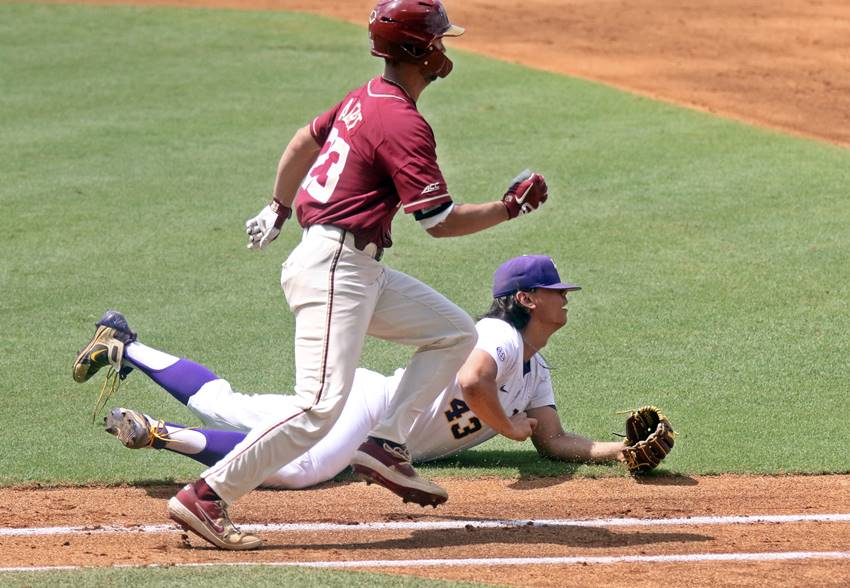LSU season on the brink after good start, poor finish against Florida State in Super Regional opener