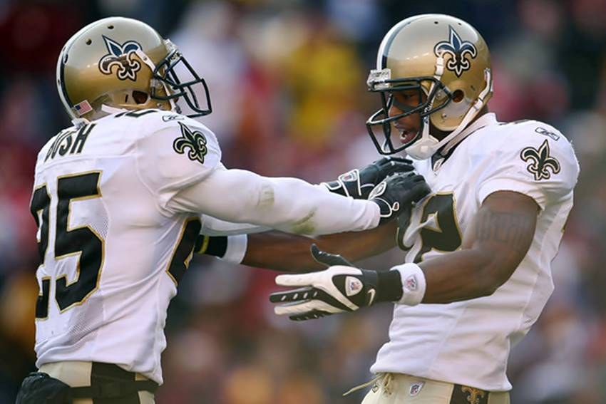 Reggie Bush and Marques Colston